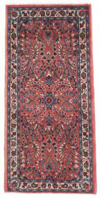 Sarough Teppe 65X136 Ekte Orientalsk Håndknyttet Mørk Lilla/Mørk Rød (Ull, Persia/Iran)
