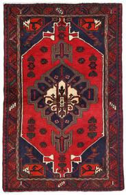 Hamadan Teppe 104X162 Ekte Orientalsk Håndknyttet Mørk Rød/Mørk Blå (Ull, Persia/Iran)