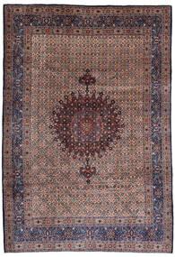 Moud Teppe 210X303 Ekte Orientalsk Håndknyttet Mørk Rød/Mørk Lilla (Ull/Silke, Persia/Iran)