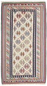 Kelim Senneh Teppe 148X268 Ekte Orientalsk Håndvevd Beige/Mørk Grå (Ull, Persia/Iran)