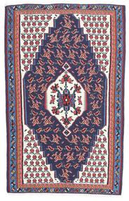 Kelim Senneh Teppe 110X165 Ekte Orientalsk Håndvevd Mørk Grå/Mørk Lilla (Ull, Persia/Iran)