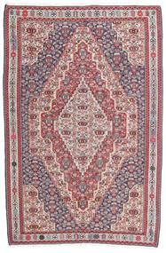 Kelim Senneh Teppe 148X225 Ekte Orientalsk Håndvevd Mørk Grå/Lys Grå (Ull, Persia/Iran)