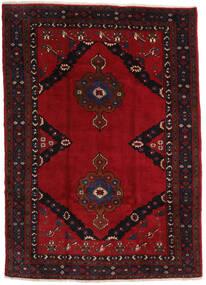 Mashad Teppe 207X290 Ekte Orientalsk Håndknyttet Svart/Mørk Rød (Ull, Persia/Iran)