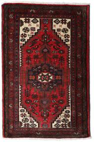 Hamadan Teppe 80X125 Ekte Orientalsk Håndknyttet Mørk Brun/Mørk Rød (Ull, Persia/Iran)
