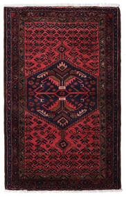 Hamadan Teppe 83X135 Ekte Orientalsk Håndknyttet Mørk Rød (Ull, Persia/Iran)