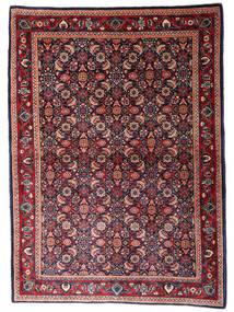 Sarough Teppe 110X155 Ekte Orientalsk Håndknyttet Mørk Blå/Mørk Rød (Ull, Persia/Iran)