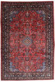 Hamadan Shahrbaf Teppe 217X315 Ekte Orientalsk Håndknyttet Mørk Rød/Mørk Brun (Ull, Persia/Iran)