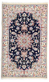 Kashmar Teppe 77X130 Ekte Orientalsk Håndknyttet Hvit/Creme/Lys Grå (Ull, Persia/Iran)