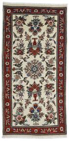 Beluch Teppe 80X161 Ekte Orientalsk Håndknyttet Mørk Brun/Mørk Beige (Ull, Persia/Iran)