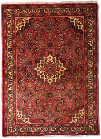 Hamadan Teppe 105X145 Ekte Orientalsk Håndknyttet Mørk Rød/Mørk Brun (Ull, Persia/Iran)