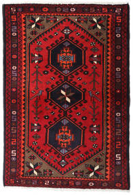 Hamadan Teppe 100X145 Ekte Orientalsk Håndknyttet Mørk Rød/Rød (Ull, Persia/Iran)