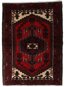 Hamadan Teppe 100X137 Ekte Orientalsk Håndknyttet Mørk Rød (Ull, Persia/Iran)