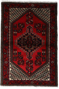 Hamadan Teppe 97X145 Ekte Orientalsk Håndknyttet Mørk Rød (Ull, Persia/Iran)