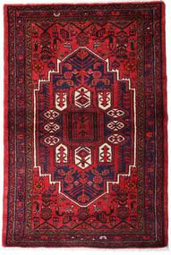 Hamadan Teppe 105X155 Ekte Orientalsk Håndknyttet Mørk Rød/Mørk Lilla (Ull, Persia/Iran)