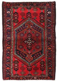 Hamadan Teppe 100X148 Ekte Orientalsk Håndknyttet Mørk Rød (Ull, Persia/Iran)