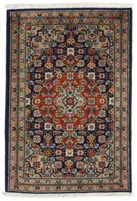 Tabriz Teppe 54X82 Ekte Orientalsk Håndknyttet Svart/Mørk Grå (Ull, Persia/Iran)