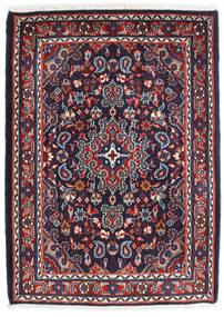 Hamadan Shahrbaf Teppe 72X100 Ekte Orientalsk Håndknyttet Mørk Lilla/Mørk Rød (Ull, Persia/Iran)