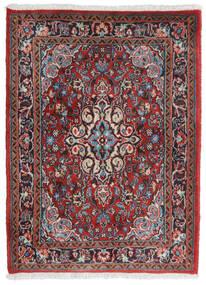 Hamadan Shahrbaf Teppe 71X95 Ekte Orientalsk Håndknyttet Mørk Rød/Lys Grå (Ull, Persia/Iran)