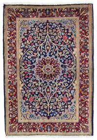 Kerman Teppe 60X90 Ekte Orientalsk Håndknyttet Mørk Lilla/Mørk Rød (Ull, Persia/Iran)