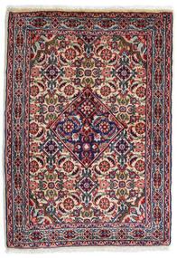 Sarough Teppe 59X82 Ekte Orientalsk Håndknyttet Mørk Lilla/Lys Grå (Ull, Persia/Iran)