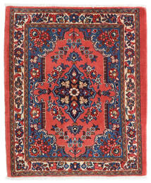 Sarough Teppe 65X80 Ekte Orientalsk Håndknyttet Mørk Rød/Mørk Lilla (Ull, Persia/Iran)
