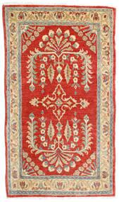 Sarough Teppe 78X135 Ekte Orientalsk Håndknyttet Rust/Mørk Beige (Ull, Persia/Iran)