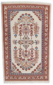 Sarough Teppe 84X140 Ekte Orientalsk Håndknyttet Mørk Rød/Lys Grå (Ull, Persia/Iran)