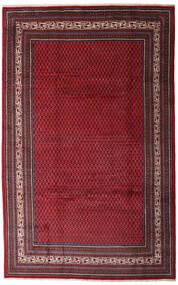 Sarough Mir Teppe 200X315 Ekte Orientalsk Håndknyttet Mørk Rød/Mørk Brun (Ull, Persia/Iran)