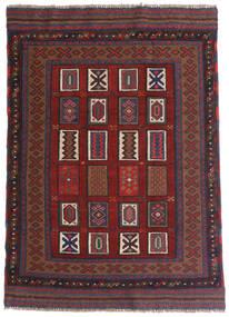 Kelim Golbarjasta Teppe 115X140 Ekte Orientalsk Håndvevd Mørk Rød/Mørk Grå (Ull, Afghanistan)