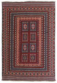 Kelim Golbarjasta Teppe 90X130 Ekte Orientalsk Håndvevd Mørk Rød/Mørk Brun (Ull, Afghanistan)