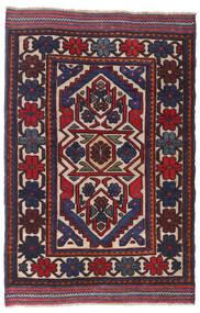 Kelim Golbarjasta Teppe 95X145 Ekte Orientalsk Håndvevd Mørk Grå/Mørk Lilla/Mørk Rød (Ull, Afghanistan)