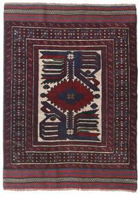 Kelim Golbarjasta Teppe 95X130 Ekte Orientalsk Håndvevd Svart/Mørk Rød (Ull, Afghanistan)