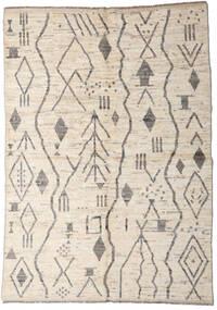 Moroccan Berber - Afghanistan Teppe 167X234 Ekte Moderne Håndknyttet Lys Grå/Beige (Ull, Afghanistan)
