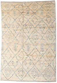 Moroccan Berber - Afghanistan Teppe 163X237 Ekte Moderne Håndknyttet Beige/Lys Grå (Ull, Afghanistan)