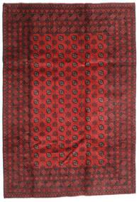 Afghan Teppe 202X289 Ekte Orientalsk Håndknyttet Mørk Rød/Rust (Ull, Afghanistan)