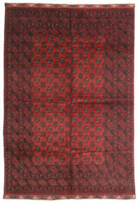 Afghan Teppe 197X284 Ekte Orientalsk Håndknyttet Mørk Rød/Mørk Brun (Ull, Afghanistan)