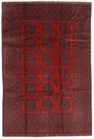 Afghan Teppe 195X288 Ekte Orientalsk Håndknyttet Mørk Rød/Svart (Ull, Afghanistan)