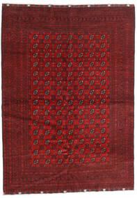 Afghan Teppe 202X290 Ekte Orientalsk Håndknyttet Mørk Rød/Rød (Ull, Afghanistan)