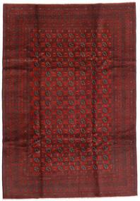 Afghan Teppe 199X289 Ekte Orientalsk Håndknyttet Mørk Rød/Mørk Brun (Ull, Afghanistan)