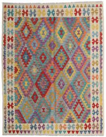 Kelim Afghan Old Style Teppe 152X198 Ekte Orientalsk Håndvevd Lysbrun/Lys Grå (Ull, Afghanistan)