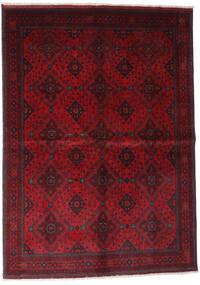 Afghan Khal Mohammadi Teppe 168X232 Ekte Orientalsk Håndknyttet Mørk Rød/Rød (Ull, Afghanistan)