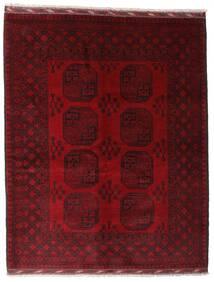 Afghan Teppe 158X199 Ekte Orientalsk Håndknyttet Mørk Rød/Mørk Brun (Ull, Afghanistan)