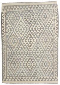Kelim Afghan Old Style Teppe 122X173 Ekte Orientalsk Håndvevd Lys Grå/Mørk Beige (Ull, Afghanistan)
