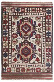 Kelim Golbarjasta Teppe 92X145 Ekte Orientalsk Håndvevd Mørk Grå/Lys Grå (Ull, Afghanistan)