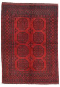 Afghan Teppe 172X236 Ekte Orientalsk Håndknyttet Mørk Rød/Mørk Brun/Rød (Ull, Afghanistan)