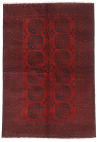 Afghan Teppe 160X232 Ekte Orientalsk Håndknyttet Mørk Rød/Mørk Brun (Ull, Afghanistan)