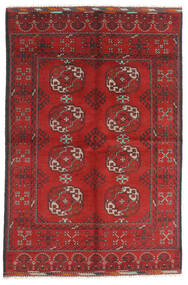 Afghan Teppe 165X246 Ekte Orientalsk Håndknyttet Mørk Rød/Rust (Ull, Afghanistan)