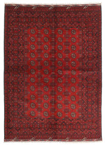 Afghan Teppe 169X231 Ekte Orientalsk Håndknyttet Mørk Rød/Rust (Ull, Afghanistan)