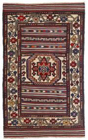 Kelim Golbarjasta Teppe 90X150 Ekte Orientalsk Håndvevd Mørk Rød/Svart (Ull, Afghanistan)