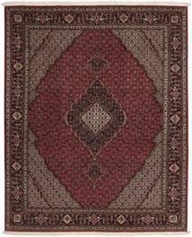 Tabriz 50 Raj Teppe 152X185 Ekte Orientalsk Håndknyttet Mørk Rød/Mørk Brun/Lysbrun (Ull/Silke, Persia/Iran)